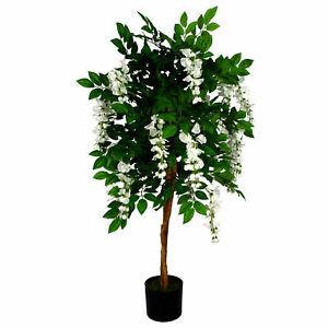 130cm Luxury Artificial Wisteria Tree White Flowers - Premium Range LEAF-7388