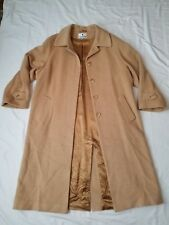 Awesome Women's Gallo Golden Tan 100% Camel Hair Trench Coat W/100% Rayon Liner