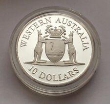 1990 AUSTRALIA TEN DOLLAR SILVER PROOF WESTERN AUSTRALIA COIN