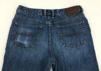 Tommy Bahama Classic Fit Mens Blue Jeans Size 33 x 29 Straight Leg Dark Wash