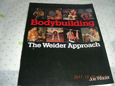 Bodybuilding : The Weider Approach by Joe Weider (1981, Paperback)
