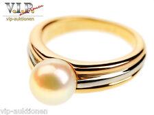 Cartier La Perla Trinity Ring 18 K/750 Tricolor Gold & Cultured Pearls / Akoya