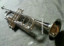 TRUMPET  MADE OF PURE BRASS IN CHROME POLISH + CASE BOX + MOUTHPC+ FREE SHIPPING