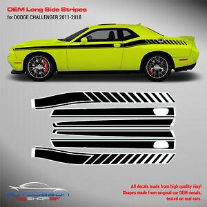 Dodge Challenger LONG Side Stripes Decals 1 color 2011 - 2018