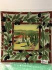 """PEGGY KARR TUSCAN VILLA 10"""" Fused Glass Square Plate with box"""