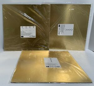 Stampin Up GOLD FOIL SHEETS Paper Cardstock 12x12 Lot of 3