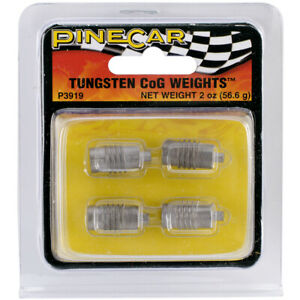 Pine Car Derby Weights 2oz-Tungsten Center of Gravity
