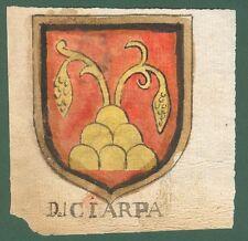 ARALDICA. DEL CIARPA-CHELINI. Toscana '600. Stemmi di famiglie nobili toscane.