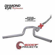 "Diamond Eye 4"" Aluminized Exhaust System Turbo-Back Dual No Muffler K4116A-RP"