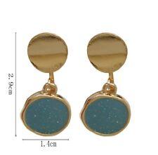 Gold Plated Pearls Earrings ENAMEL GREEN by Patricia Adelson. EXCLUSIVE DESIGN.