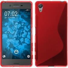 Custodia in Silicone Sony Xperia X S-Style rosso