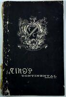 Original Vintage Menu TINO'S CONTINENTAL Restaurant Washington DC