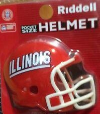 """Illinois Fighting Illini Pocket Pro Helmet (2"""") - New Stock from June 2012"""