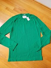 NWT Abercrombie & Fitch Boreas Mountain Thermal Crew Long Sleeve Tee Navy Green