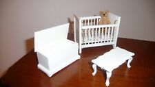 DOLLS HOUSE NURSERY FURNITURE (New Shop Stock)  4 Pieces  Free UK Postage