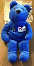 1999 SALVINO'S BAMMERS DENVER BRONCOS TERRELL DAVIS #30 BEAN BAG PLUSH BEAR- NEW