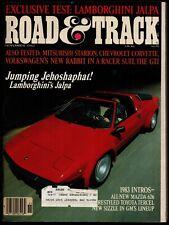 November 1982 Road Amp Track Magazine Lamborghini Jalpa Corvette Starion