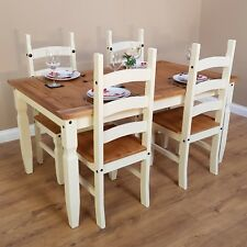 """Corona Cream 5'0"""" Dining Table & 4 Chairs Set Painted by Mercers Furniture®"""