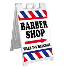 Signicade A Frame Sign Sidewalk Sign Barber Shop Walk Ins Welcome
