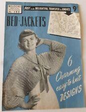 Weldon's Practical Needlework No. 280 – BED-JACKETS - 1950 Knitting