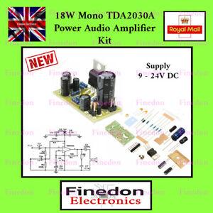18W TDA2030A HiFi Mono Power Audio Amplifier 9 - 24 V Single Supply PCB Kit