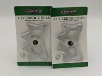 Cue Bridge Head - 2 Pack - Turns Any Pool Cue Into A Bridge Stick - Billiards
