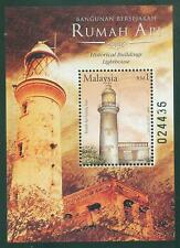 [JSC] 2004 Historical Building Lighthouse Malaysia M/S Stamp MNH