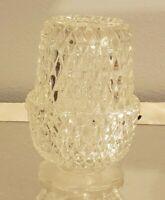 Vintage Indiana Glass Diamond Point Clear Glass Fairy Lamp
