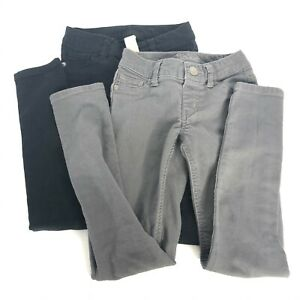 Justice Jeans Girls Size 8 Slim Lot of 2 Black Gray Denim