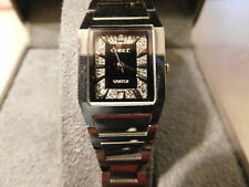 CHISEL LADIES WATCH TUNGSTEN  CZ & SILVERTONE MARKERS NOS TPW36 NEW in BOX