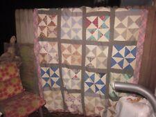 Killer queen /double antique quilt Top, (Rolling Stone, Pinwheel, Bow Tie) S.C.