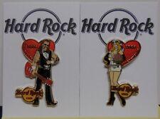 Hard Rock Cafe Pin Groom & Bride Valentine Days 2008 Sacramento Set Of 2 LE300
