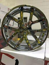 """4 SRT-10 Chrome 24"""" Wheels Dodge Chrysler Challenger 5x115"""
