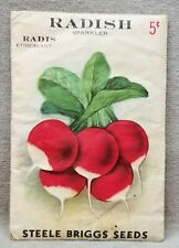 Vintage seed package Steele Briggs Seed Company Canada pictures Radishes.