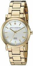 French Connection Womens Wrist Watch Gold Dial Bracelet FC1275GM