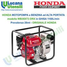 """Motopompa Honda Wb30xt acque chiare 3"""" portata 1100 L/min prevalenza totale 28 M"""