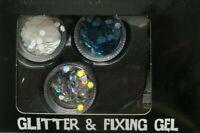 Illusions Face Glitter NAIL,BODY & Fixing Gel Set