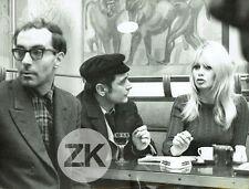 BRIGITTE BARDOT Bourseiller JEAN-LUC GODARD Masculin Féminin Tournage Photo 1965