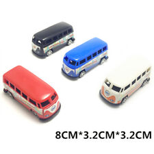 Plastic Car Model Simulation Bus Pull Back Birthday Cake Decor Toy Car FT