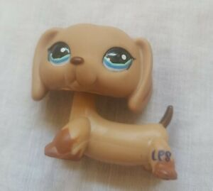 LPS LITTLEST PET SHOP C-031~Dachshund~Dog~Brown White~Green 2006