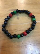 Red Black And Green African Bracelet