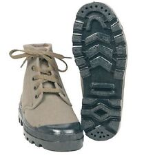 Thick canvas jungle boots, new, made in a democratic welfare state, easy fit
