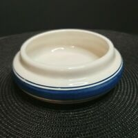"Vintage Delft Blue Hand Painted Made in Holland 5"" Planter/Bowl Blue Stripes"