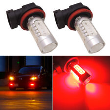 2x Brilliant Red H11 H8 Car Truck Driving Fog Lights Lamp Super Bright LED Bulbs