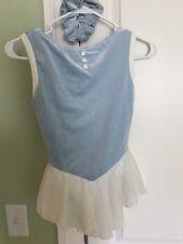 Del Arbour Skating Dress Blue Velvet Childrens 12-14