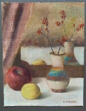 Samuel Brecher (1897-1982) Listed Artist Original Still Life Oil on Canvas