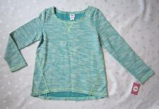 NWT CIRCO GIRLS MARLED TURQUOISE BLUE SWEATER - SIZE L (10-12)