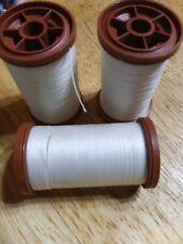 Lot of 3 Coats & Clark Extra Strong Heavy Duty Upholstery Thread NATURAL
