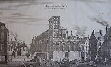 MÉRIAN : L'eglise St Sauveur dans la rue St Denis à Paris.1660