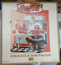 BRAND NEW Mattel Barbie Coca Cola Soda Fountain 26980-9993 Unopened RARE LE Nice